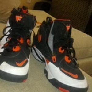 Orange Black and White Nike Flights